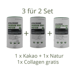 VitalShake Trio - Whey Protein plus Collagen