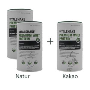 Vitalshake Whey Protein-Set ist eine gute Ergänzung zur bewussten und gesunden Ernährung