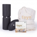 fayo® Faszien-Set: Rolle mit Wirbelsäulenentlastung in Ganzkörperbreite plus Kugel-Rolle für erweiterte Anwendungen zur Steigerung der Rolleffekte