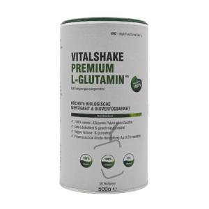 VitalShake Premium L-Glutamin HFQ, höchste biologische Wertigkeit & Bioverfügbarkeit.